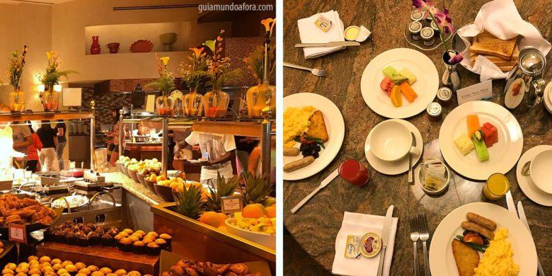 Café da manhão do Atlantis em Dubai