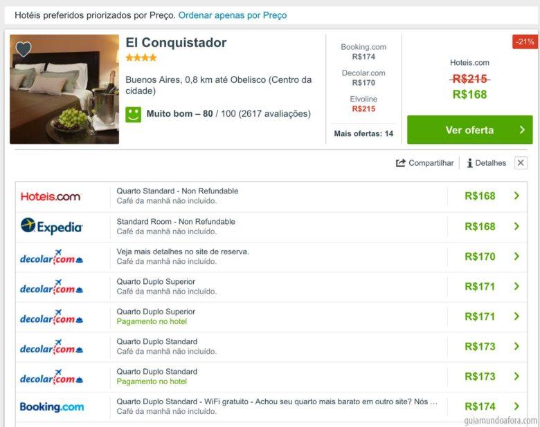 preços de hotel Trivago