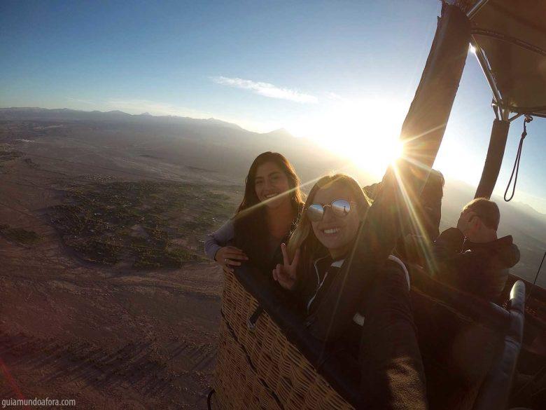 passeio de balão no Atacama