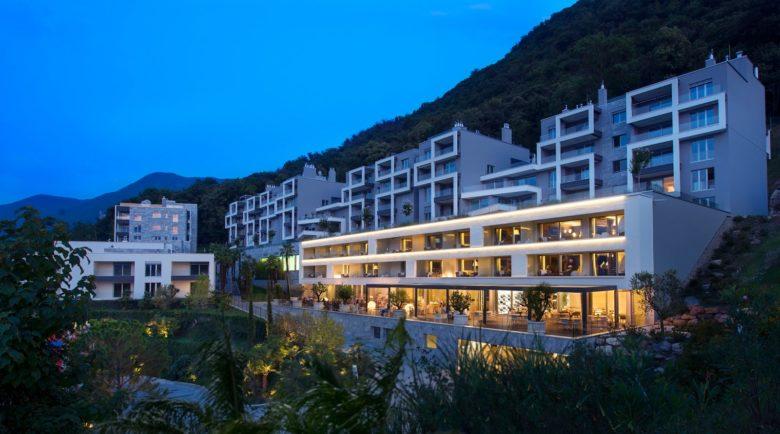 Fachada do Hotel The View Lugano, um dos hotéis na suíça para amantes de arte
