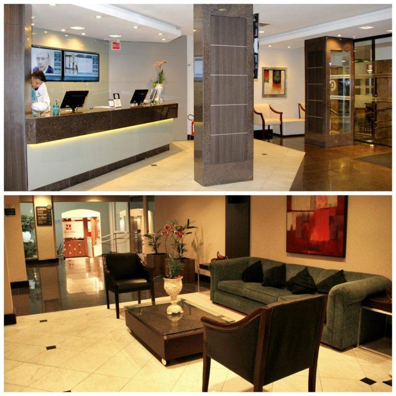 recepcao deville, hotel no centro de Curitiba