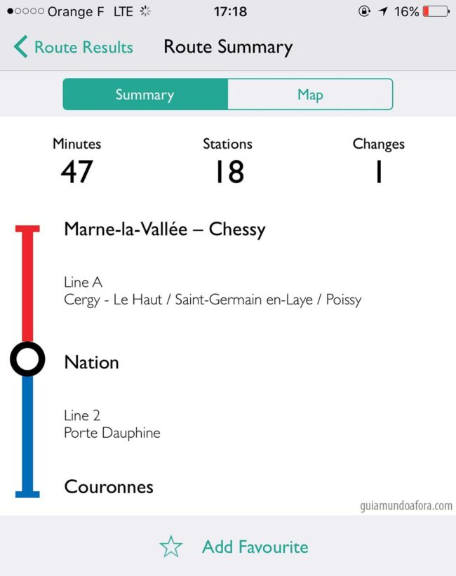 App de metro em Paris