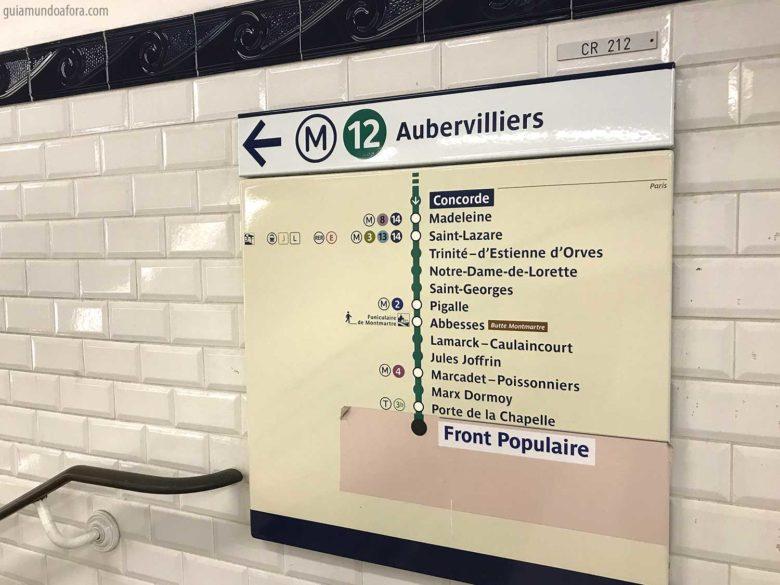 placa de transporte em Paris