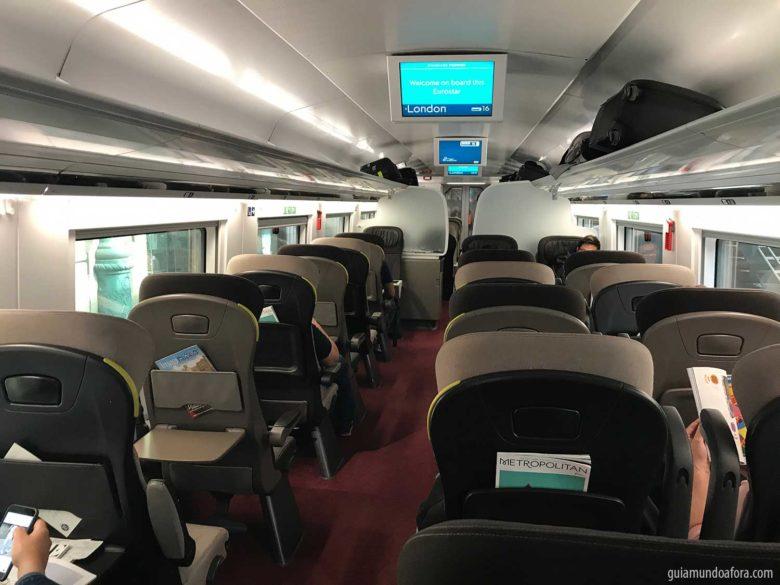 trem de Paris a Londres Eurostar