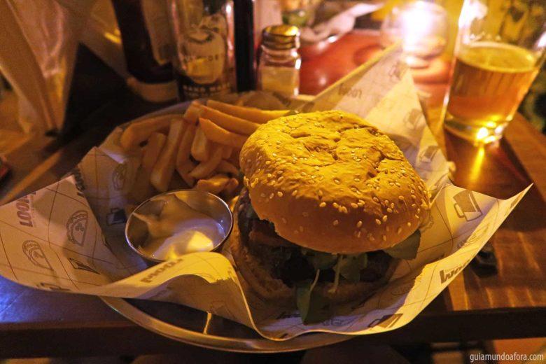 bares em santiago para comer hamburguer