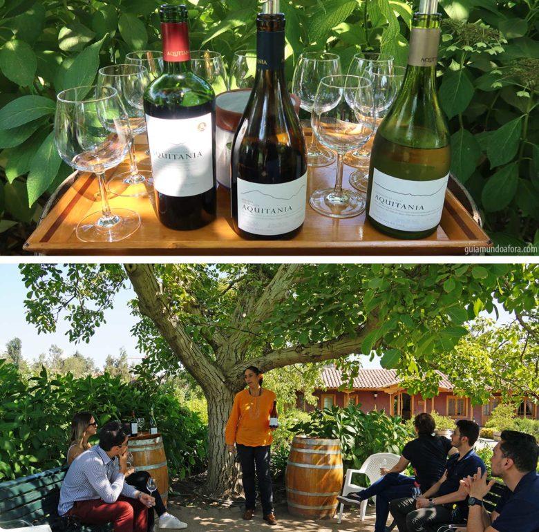 vinícola em Santiago degustação Aquitania