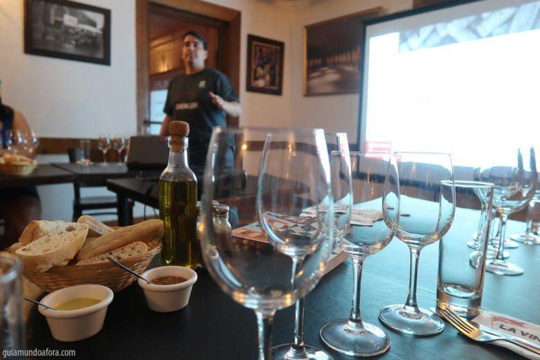 cruso de vinhos em Santiago