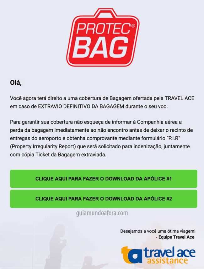 seguro viagem protec bag