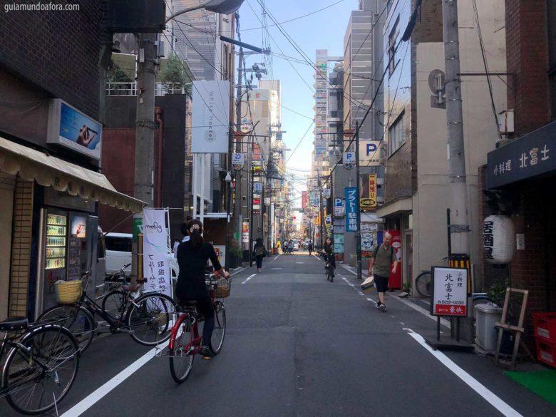 ruas de Osaka no Japão
