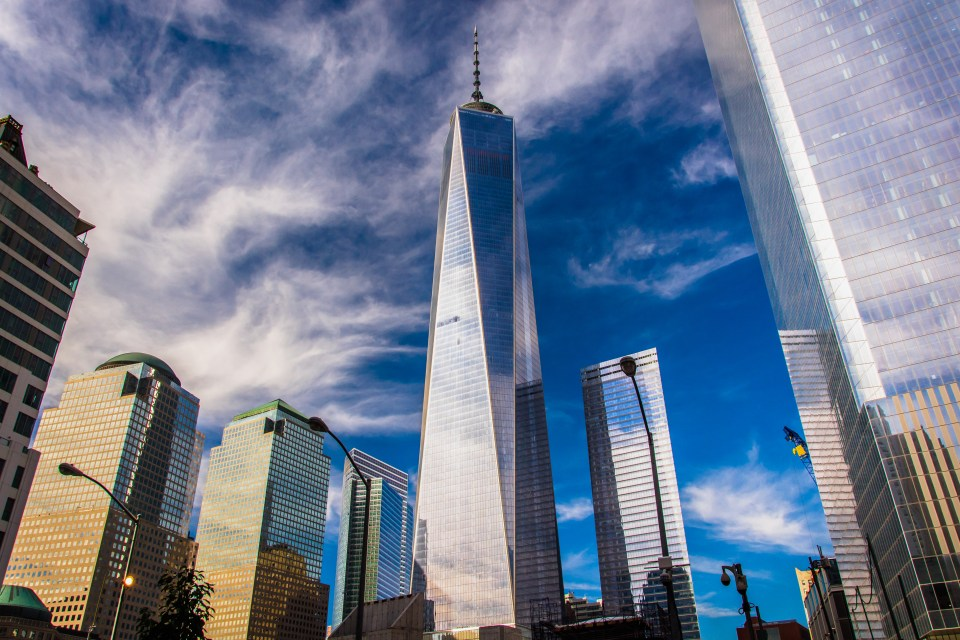 Vista del One World Trade Center en Nueva York
