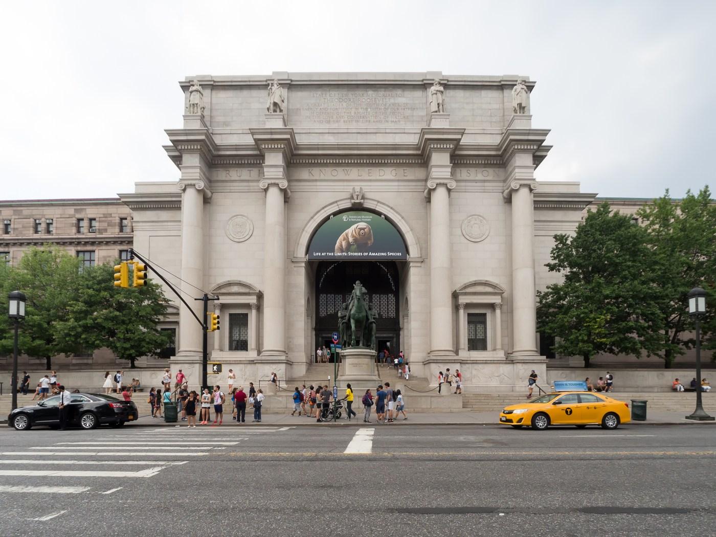 Fachada del American Museum of Natural History en Nueva York