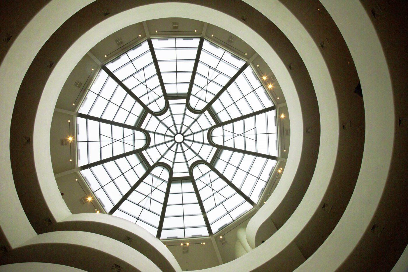 El famoso tragaluz del Museo Guggenheim de Nueva York
