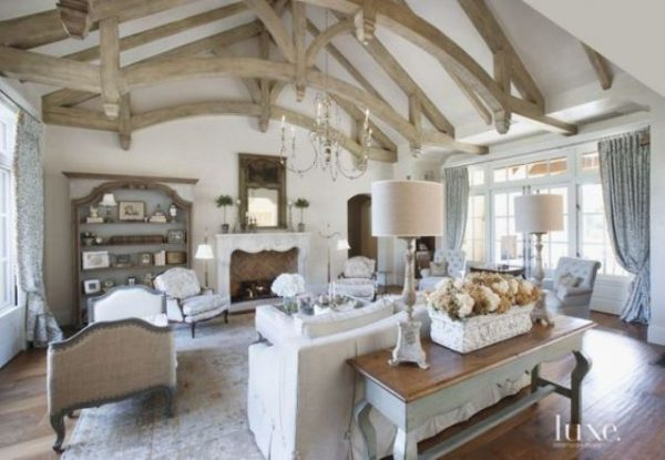 15 Ideas De Estilo French Country Para Tu Sala De Estar