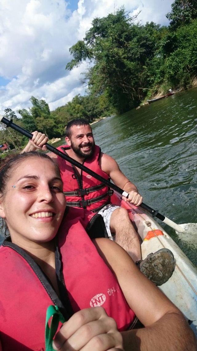 Y así fue. Kayak en Vang Vieng
