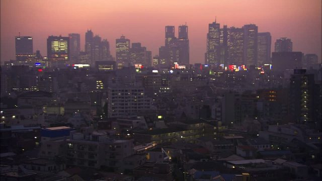 Skyline de Tokio, entre lo tradicional y lo moderno.