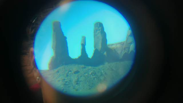 Three Sisters in Monument Valley