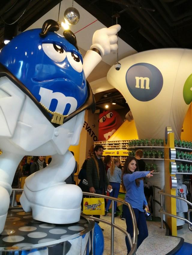 Blue Elvis. M&M's los dulces más famosos de Nueva York