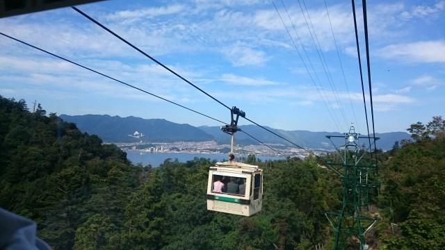 El teleférico es una gran opción para la subida a Misen.