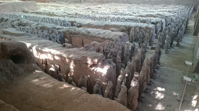 Hay 8.000 Guerreros de Terracota en el Mausoleo de Xian.