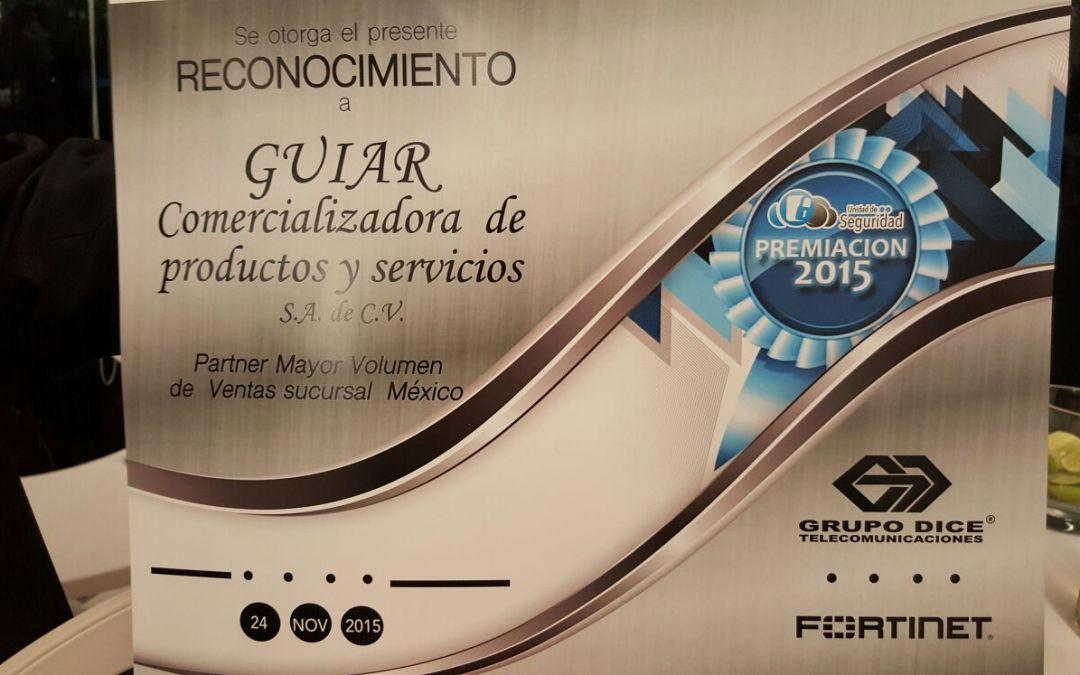 Grupo DICE Galardona a GUIAR con el Primer Lugar en Ventas de soluciones Fortinet en la Zona Centro de México