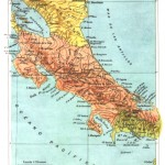 Mapa de Costa Rica 1889