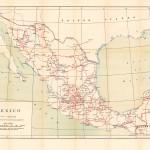 Mapa de carreteras y pistas, México 1919