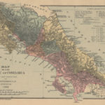 Mapa de Costa Rica de 1891