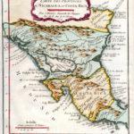 Mapa de Nicaragua y Costa Rica - 1754
