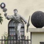 Estatua de Juan Santamaríaubicada en la Asamblea Legislativa
