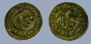 1/2 escudo de oro