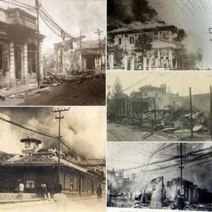 Quema del periódico La Información el 13 de junio de 1919