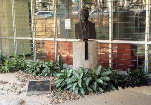 Busto del Dr. Solón Núñez Frutos en la Facultad de Medicina de la UCR.