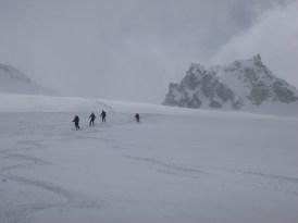 Descenso por el glaciar de Prafleuri