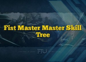 Fist Master Master Skill Tree
