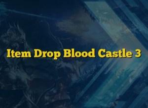 Item Drop Blood Castle 3