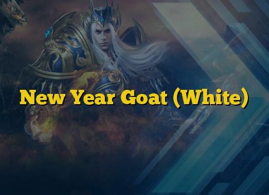 New Year Goat (White)