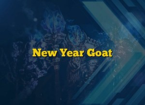 New Year Goat