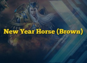 New Year Horse (Brown)