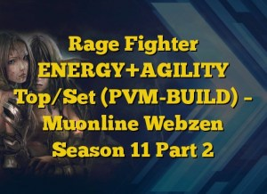 Rage Fighter ENERGY+AGILITY Top/Set (PVM-BUILD) – Muonline Webzen Season 11 Part 2