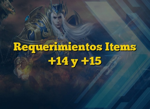 Requerimientos Items +14 y +15