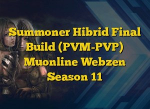 Summoner Hibrid Final Build (PVM-PVP) Muonline Webzen Season 11