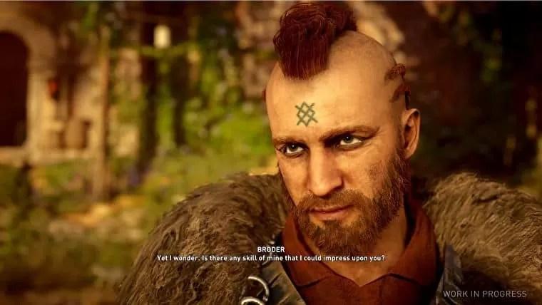 assassins creed valhalla ligar con broder