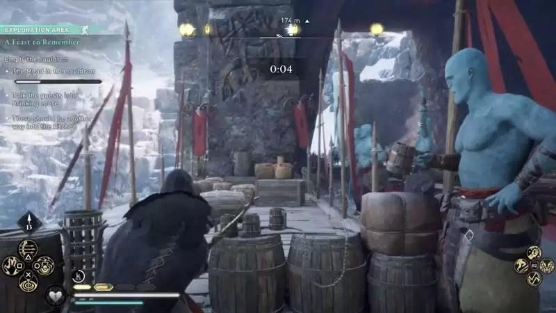 Concurso de tiro con arco borracho en una fiesta para recordar la búsqueda en Assassin's Creed Valhalla