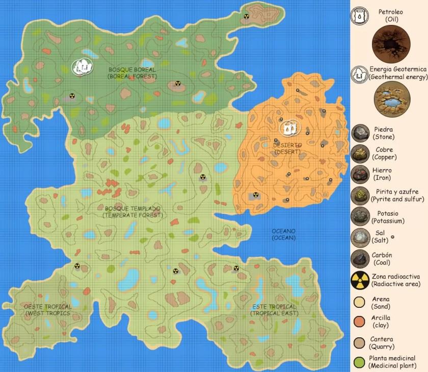 CryoFall: World Map (mayo de 2021)