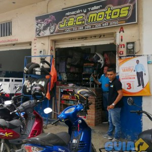 Fachada de Almacen y taller jac motos