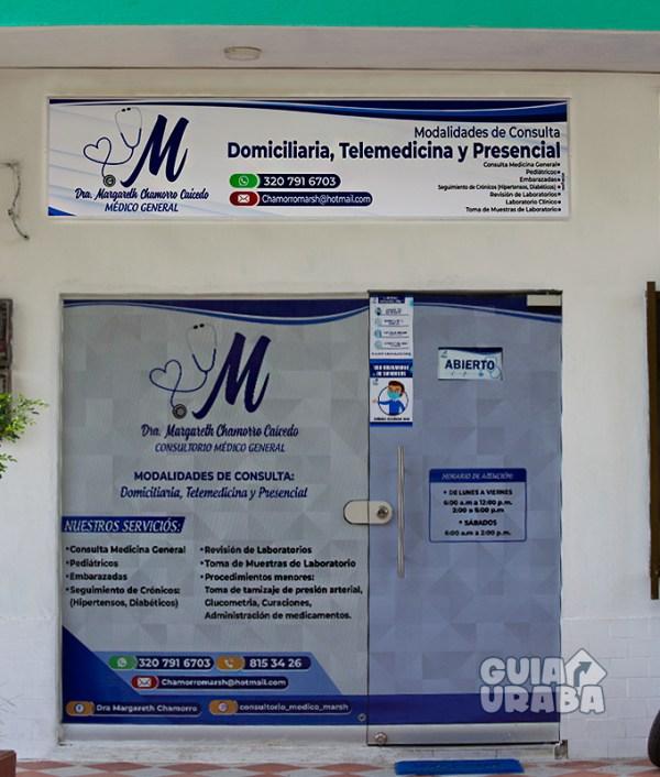 Consultorio medico general de la Doctora Margareth Chamorro Caicedo