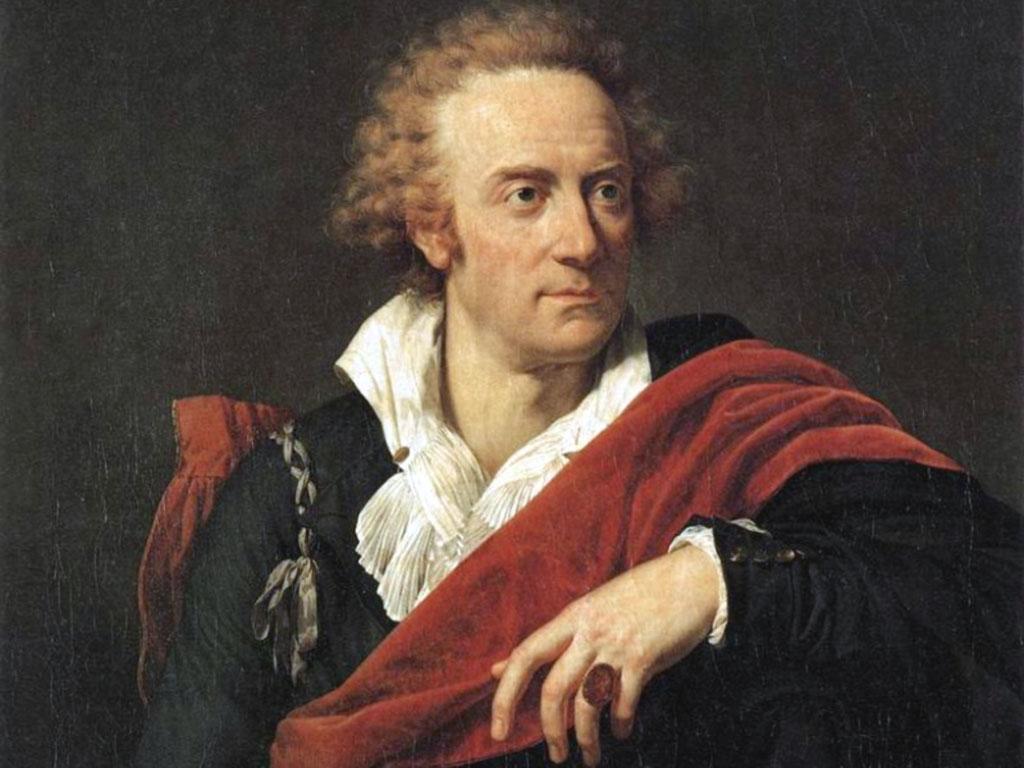 Vittorio Alfieri in un dipinto