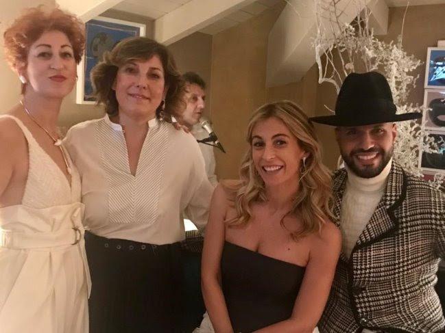 Da sinistra: Rosalba Piccinni, Carmen Moretti de Rosa, Michela Proietti, Jonathan Kashanian