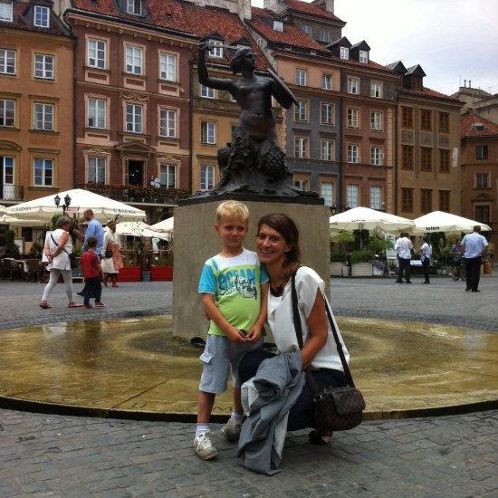 Non solo i bambini amano ascoltare le leggende di Varsavia. Margherita le conosce tutte.