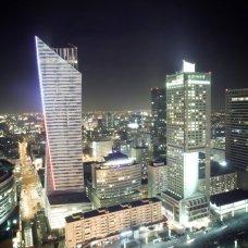 Varsavia dalla vista di notte.